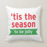 'Tis the Season | Bright Red and Green Throw Pillows