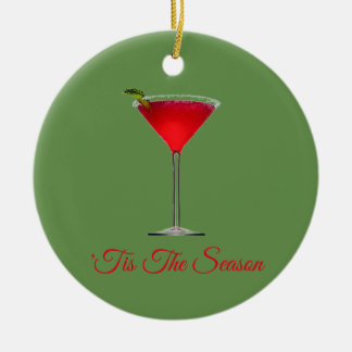Tis The Season Ceramic Ornament