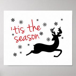 'Tis The Season Christmas Art Print