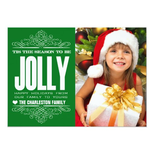 Tis The Season Christmas Holiday Family Photo Card Announcements