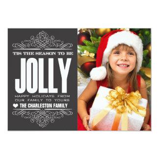 Tis The Season Christmas Holiday Family Photo Card Announcements