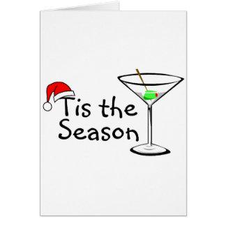 Tis The Season Christmas Martini Card