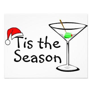 Tis The Season Christmas Martini Personalized Invitation