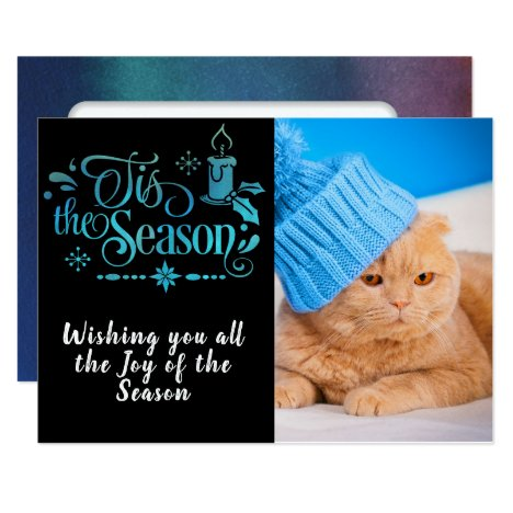 Tis the Season/Christmas Quote/2-Sided Photo Card