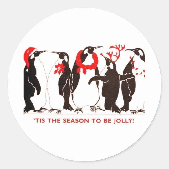 Tis the Season Classic Round Sticker