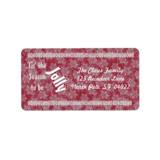 Tis' the Season (cranberry) Address Label