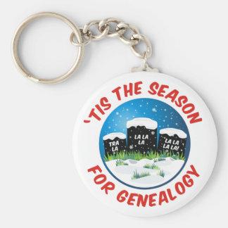 'Tis The Season For Genealogy Keychain