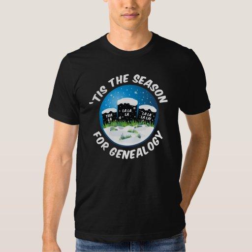 'Tis The Season For Genealogy Tshirts