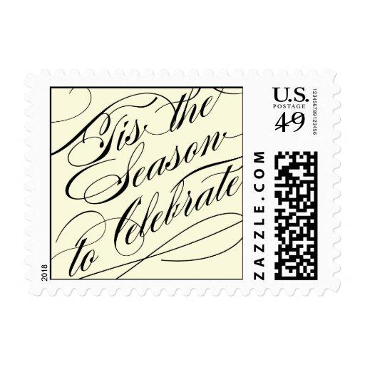 Tis The Season Holiday Postage Stamp