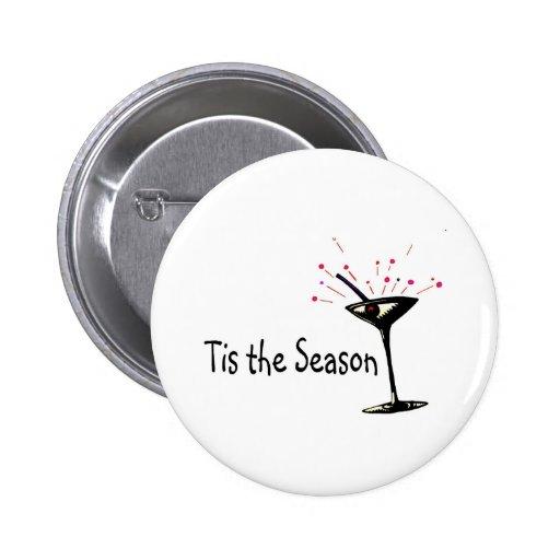 Tis The Season Martini 2 Inch Round Button