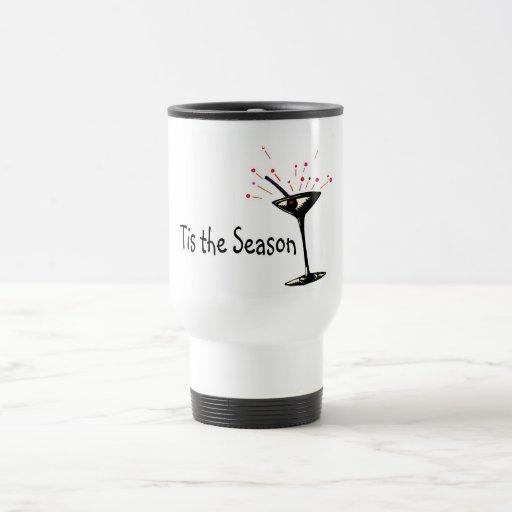 Tis The Season Martini Mugs