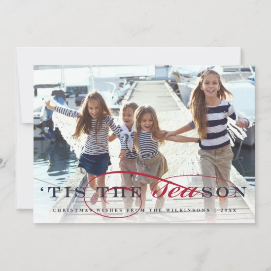 Tis the Season | Nautical Holiday Photo  Card