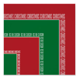 """Tis The Season"" Red/Green Color Corner (MB) Print"