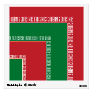 """Tis The Season"" Red/Green Color Corner (MB) Wall Sticker"