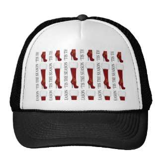 Tis' the Season Red Stiletto Trucker Hat
