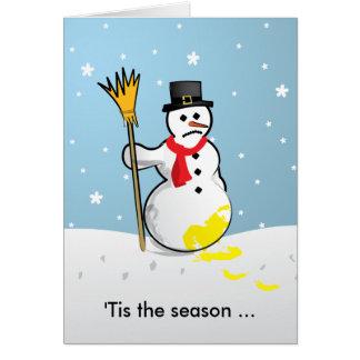 'Tis the season ... Sad Snowman Greeting Cards