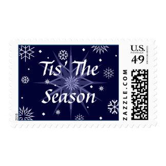 Tis' The Season Snowflakes Postage Stamps