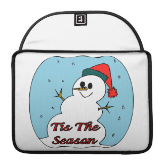 Tis The Season Snowman Sleeve For MacBook Pro