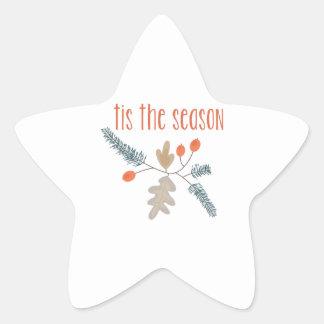 Tis The Season Star Sticker