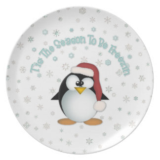 T'is The Season To Be Freezin Christmas Plate