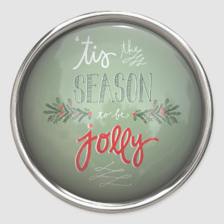 Tis The Season To Be Jolly Classic Round Sticker