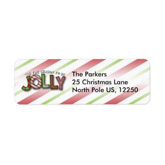 Tis' The Season To Be Jolly Label