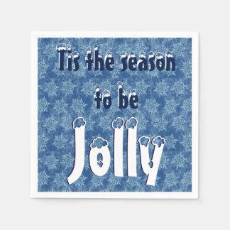Tis the Season to be Jolly Paper Napkin