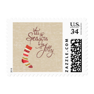 Tis the Season to be jolly, typography stamps
