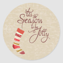 Tis the Season to be jolly, typography stickers