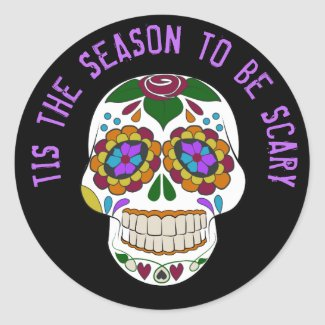 TIS THE SEASON TO BE SCARY HALLOWEEN STICKERS