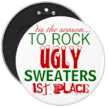 'tis the season to rock ugly sweaters 6 inch round button