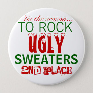 'tis the season to rock ugly sweaters pinback button