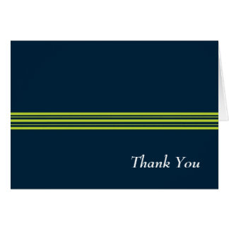 Tisbury - Navy and Green - Blank Thank You Notes Stationery Note Card
