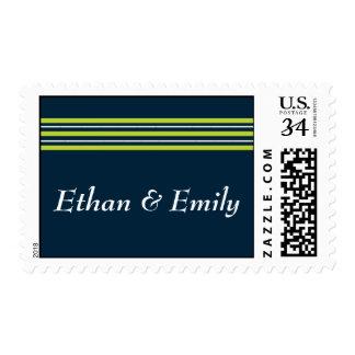 Tisbury - Navy Green White - Custom Postcard Stamp