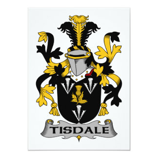 Tisdale Family Crest Card
