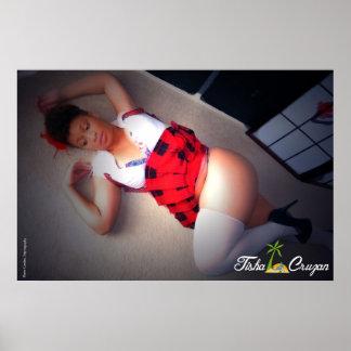 Tisha Cruzan School Girl Outfit Poster