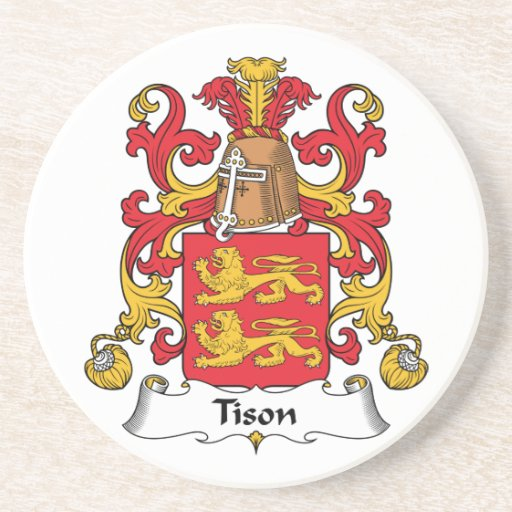 Tison Family Crest Beverage Coasters