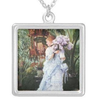 Tissot: Lilacs Square Pendant Necklace