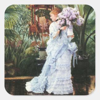 Tissot: Lilacs Square Sticker