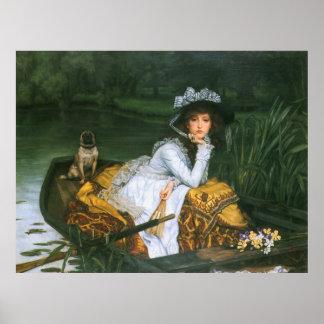 Tissot: Señora joven en un barco Poster