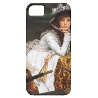 Tissot young lady and pug antique painting iPhone SE/5/5s case
