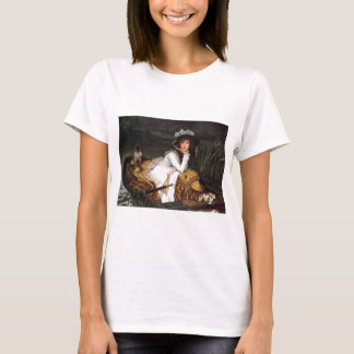 Tissot young lady and pug antique painting T-Shirt