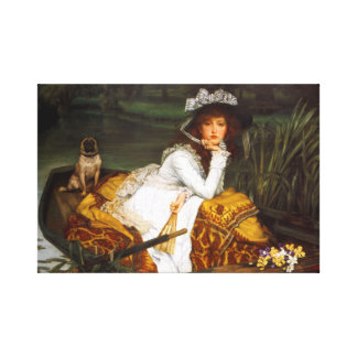 "Tissot ""Young Lady in a Boat"" Canvas Print"