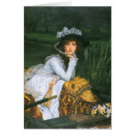 Tissot: Young Lady in a Boat Card