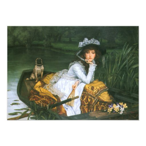 Tissot: Young Lady in a Boat 5x7 Paper Invitation Card