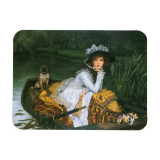 Tissot: Young Lady in a Boat Magnet