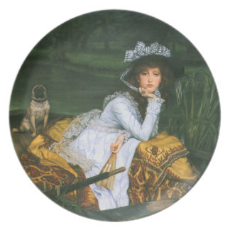 Tissot: Young Lady in a Boat Melamine Plate