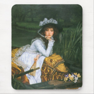 Tissot: Young Lady in a Boat Mouse Pad