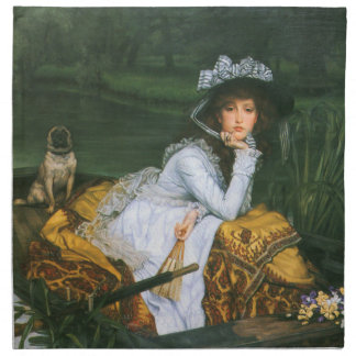Tissot: Young Lady in a Boat Napkin