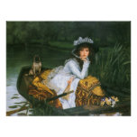 Tissot: Young Lady in a Boat Posters